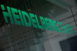 Bursa Jerman anjlok, saham HeidelbergCement jeblok