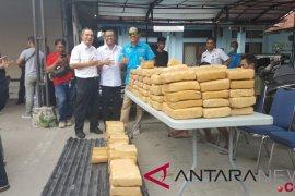 BNN mengamankan 250 kilogram ganja di Lampung Selatan