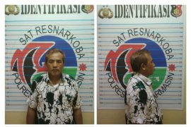 Polisi di Banjarmasin tangkap pedagang milik tujuh paket sabu-sabu