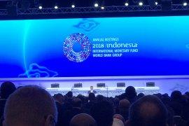 Delegasi pertemuan IMF-WB hening sejenak untuk Palu dan Lombok