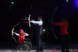 Bulan bangga memanah bareng Presiden Jokowi