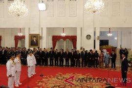 Presiden Jokowi lantik Gubernur Sumsel dan Kaltim
