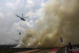 5 helikopter pembom air atasi karhutla di Sumsel