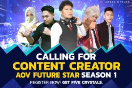 Garena - Tencent buka program AOV Future Star untuk pembuat konten Indonesia