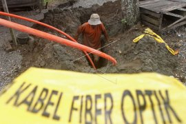 Jaringan fiber optik di Sulsel putus kualitas pelayanan data menurun