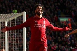 Mo Salah, Kane dan Aubameyang sama-sama top skorer Liga Inggris
