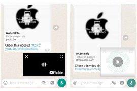 Dengan WhatsApp 2.18.301 bisa tonton video dari link YouTube