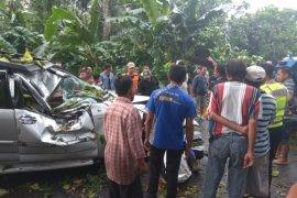 Seorang Warga Kediri Meninggal Setelah Mobilnya Tertimpa Pohon Tumbang