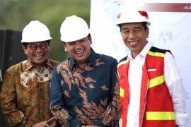 Presiden Jokowi tinjau pembangunan infrastruktur di Lampung