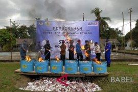 KPPBC Pangkalpinang musnahkan ribuan rokok sitaan