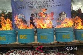 DJBC Sumatera Bagian Timur musnahkan 12 juta rokok ilegal