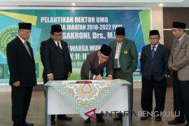 Dr Sakroni jabat Rektor Universitas Muhammadiyah Bengkulu