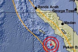 Gempa  5,2 SR guncang Pulau Nias
