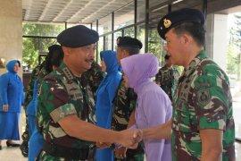 Kepala Staf TNI AL terima laporan kenaikan pangkat perwira tinggi