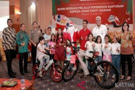 Dua BUMN Bersinergi Salurkan Donasi 500 Anak Yatim di Kaltim