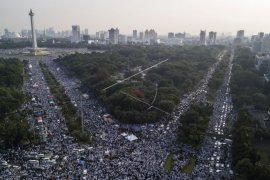 Massa reuni 212 teriakkan 'Hidup Prabowo'