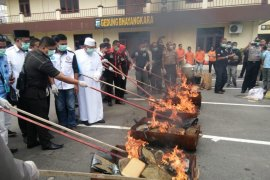 Polrestabes Medan musnahkan barang bukti narkoba