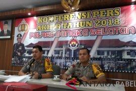Polres Bangka Selatan ungkap 171 kasus selama 2018