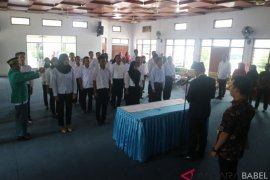 KPU Bangka lantik 25 anggota PPK-PPS Pemilu 2019