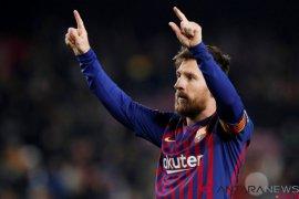 Turun dari bangku cadangan, Messi inspirasi kemenangan Barca atas Leganes