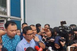 Sandiaga Uno kunjungi Ahmad Dhani di Rutan Cipinang