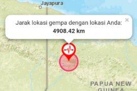 Pusat gempa di pegunungan Bintang, Papua jauh dari pemukiman