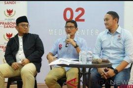 Sumbangan masyarakat untuk perjuangan Prabowo-Sandiaga meningkat signifikan