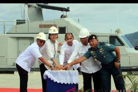 Menkeu resmikan dermaga TNI-AL Tawiri