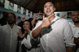 """Relawan Prabowo-Sandi Bali Hadiri """"Nobar"""" di Posko Pemenangan"""