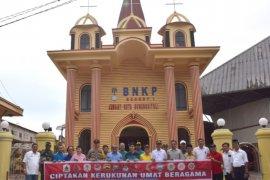 Rumah ibadah di Gunungsitoli dipasangi spanduk tolak politisasi agama