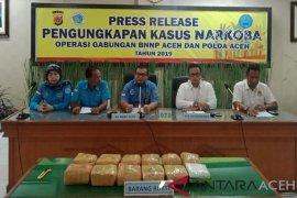 13,2 kilogram sabu-sabu gagal diedarkan di Aceh, dua tersangka ditangkap