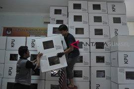 KPU Palembang rakit kotak suara Pemilu Page 1 Small