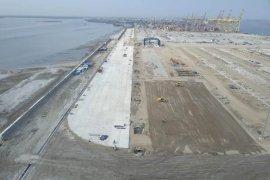 Pengembangan terminal peti kemas Belawan fase II mencapai 87 persen
