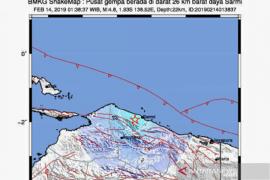 Sarmin, Papua diguncang gempa magnitudo 4,8