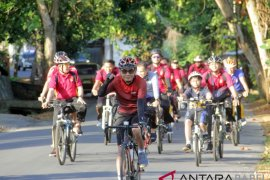 Kapolres Bangka dukung ajakan Bupati penggunaan sepeda
