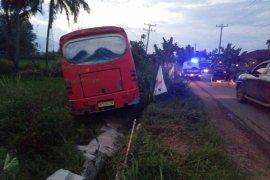 Bus Sipirok Nauli mengalami kecelakaan di Desa Gunung Tua