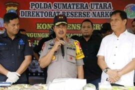 Polda Sumut amankan 55 kg sabu dan 10.000 pil ekstasi