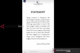 Manajemen Mal Taman Anggrek: ledakan disebabkan pipa gas
