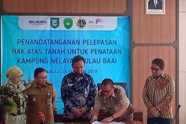 Pelindo Bengkulu serahkan 12,18 hektare lahan untuk permukiman
