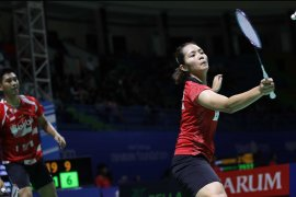 Alfian/Marsheilla terhenti di babak pertama Indonesia Open