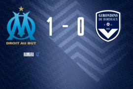 Tanpa penonton, Marseille kalahkan Bordeaux 1-0