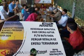 Jejaring Sumatera tantang Capres kembangkan energi terbarukan