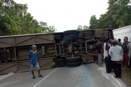 Kecelakaan bus di Jalan Trans Kalimantan