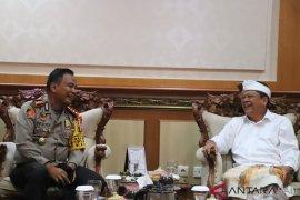 Kapolresta-Wali Kota Denpasar bahas pengamanan pawai ogoh-ogoh