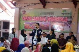 Presiden dan Ibu Negara blusukan di Pasar Sentral Kota Gorontalo