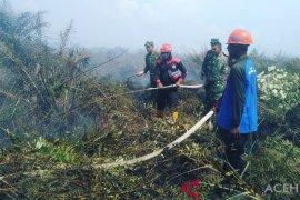 Tim terpadu masih padamkan api karhutla di Nagan Raya