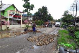 Pemkot Singkawang laporkan kerusakan jalan Singakawang-Bengkayang