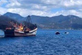Curi ikan di perairan Indonesia, Lanal tenggelamkan tiga kapal Vietnam