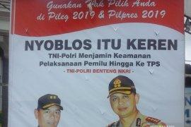 Polres-Kodim Pamekasan Sebar Baliho Nyoblos Keren
