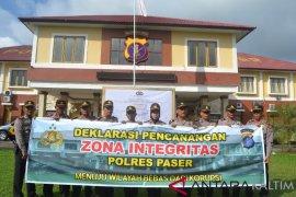 Polres Paser Deklrasikan Zona Integritas Bebas Korupsi
